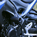 16-17 Suzuki GSXS 1000F Shogun No-Cut Frame Sliders Black