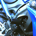 16-17 Suzuki GSXS 1000F Shogun No-Cut 3pc Slider Kit Black