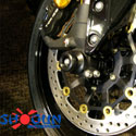 07-12 Honda CBR 600RR Shogun Motorsports Axle Sliders Black