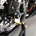 06-10 Suzuki GSXR 600/750 Shogun Motorsports Axle Sliders Black