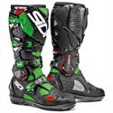 Sidi Crossfire 2 SRS Off-Road Motorcycle Boots Black/Fluo Green