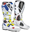 Sidi Crossfire 2 SRS Off-Road Motorcycle Boots Yellow/White/Blue