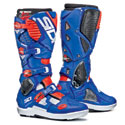 Sidi Crossfire 3 SR Off-Road Motorcycle Boots White/Blue/Red