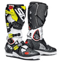 Sidi Crossfire 2 SRS OffRoad Motorcycle Boots White/Black/Yellow