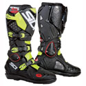 Sidi Crossfire 2 SRS Off-Road Motorcycle Boots Black/Fluo Yellow