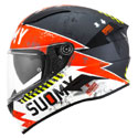 Suomy Speedstar Full Face Helmet Propeller Matte Anthracite/Red