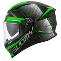 Suomy Speedstar Full Face Motorcycle Helmet Rap Black/Green