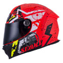 Suomy SR Sport Full Face Motorcycle Helmet Stars Orange