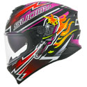Suomy Stellar Full Face Motorcycle Helmet Boost Fuxia