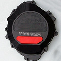 07-15 CBR 600RR Woodcraft CFM Racing Left Engine Cover Black