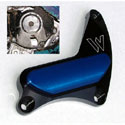 96-05 GSXR 600/750 Woodcraft Crank Cover Blk W/Silver S. Plate